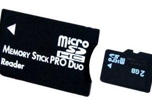 Adaptador MicroSD a MemoryStick PRO DUO